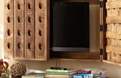 Riddling Rack Media Solution   eclectic   media storage   Pottery Barn