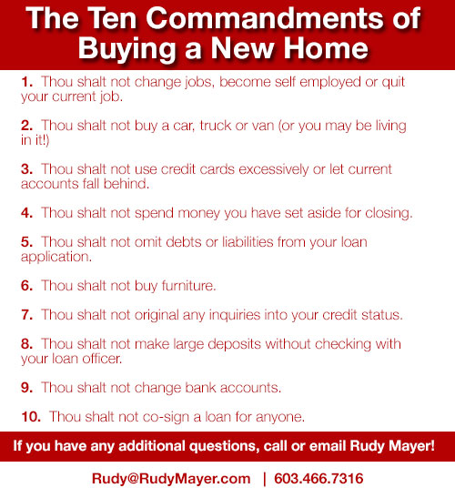 10 Commandments for New Hampshire Home Buyers