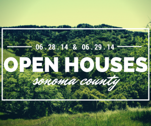 Sonoma County Open Houses, June 28th - June 29th