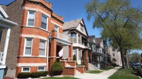 Row homes in North Center Chicago