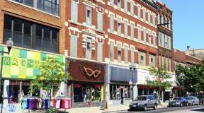 Shops in Bucktown, Chicago