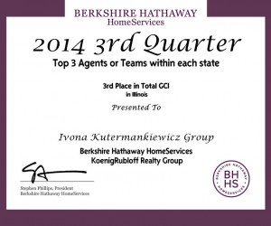 Ivona Kutermankiewicz, Top 3 Agents 2014 3rd Quarter Award