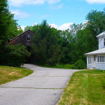 Driveway leading to barn, rear of house - 248 Parker Ave, Holden, MA 01520