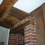 Fireplace & post-and-beam close-up - 248 Parker Ave, Holden, MA 01520