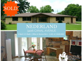 SOLD | 3406 Canal Ave, Nederland, TX 77627