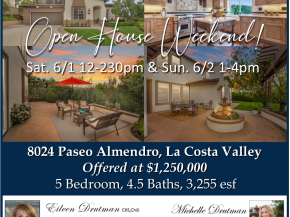 Just Listed La Costa Valley