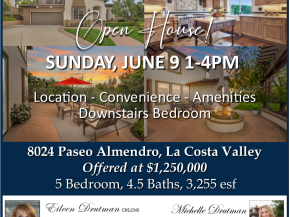 Open House Sunday June 9 1-4pm