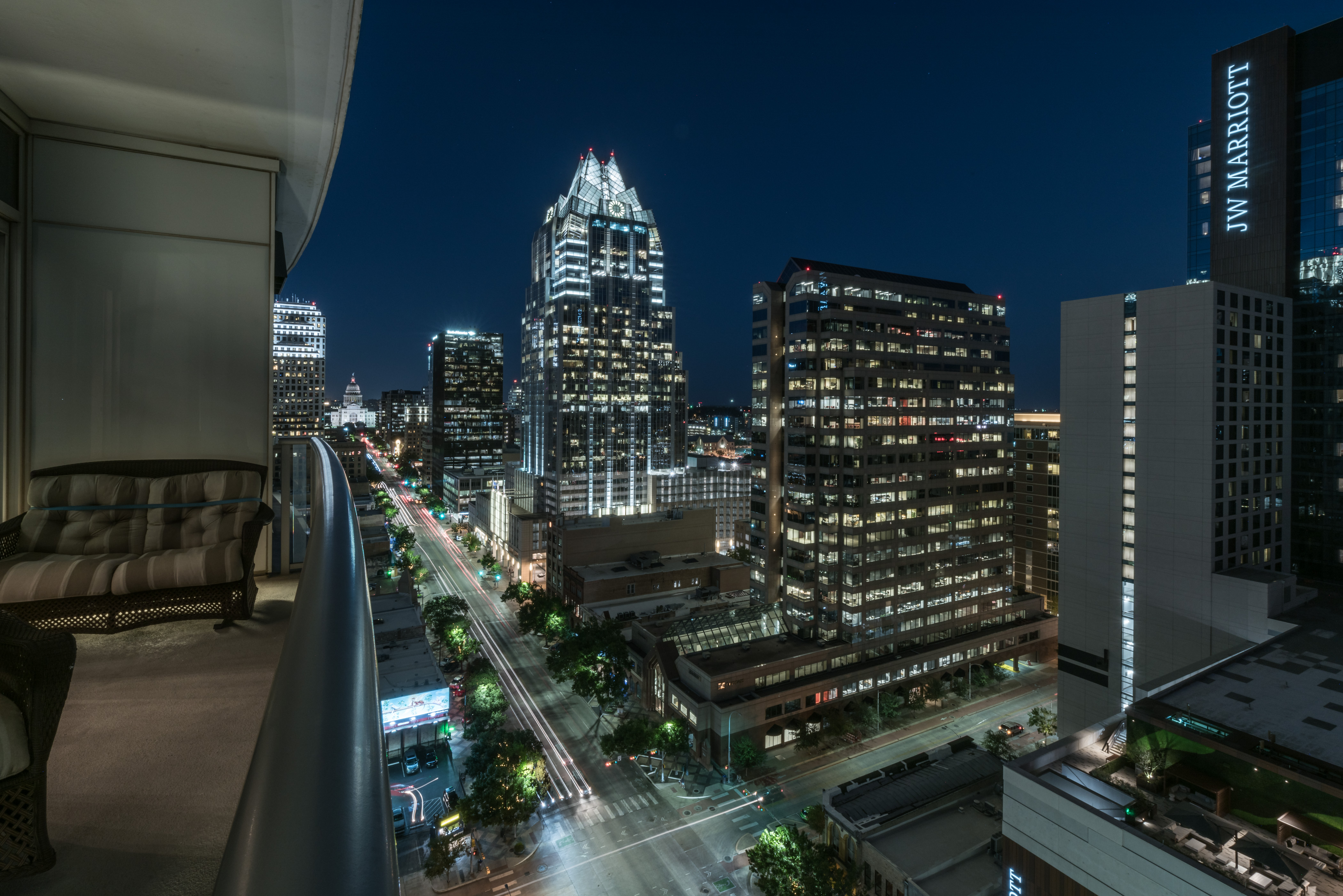 View from The Austonian, Austin TX