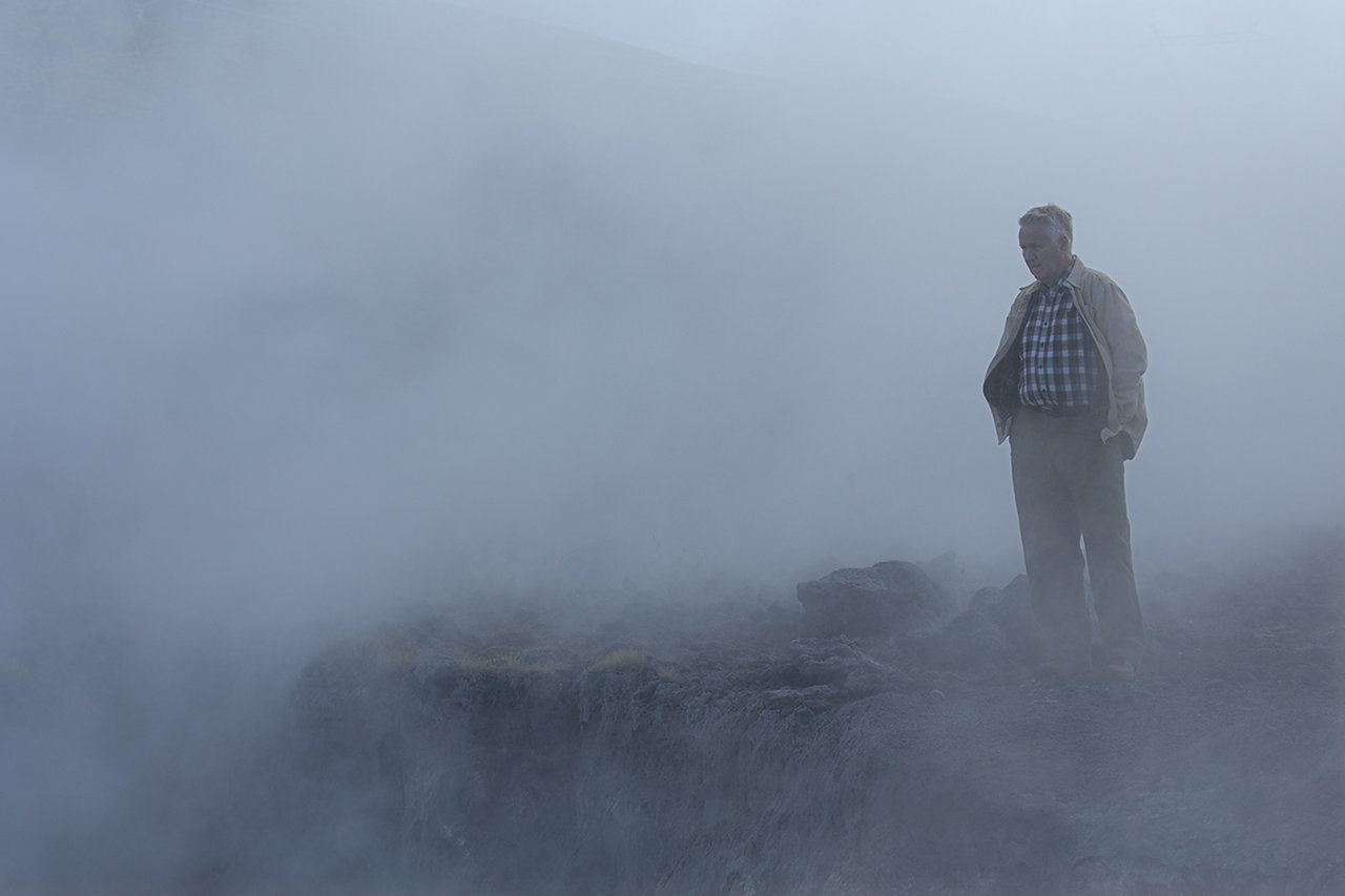 Einar Eriendsson at a geothermal station in Iceland