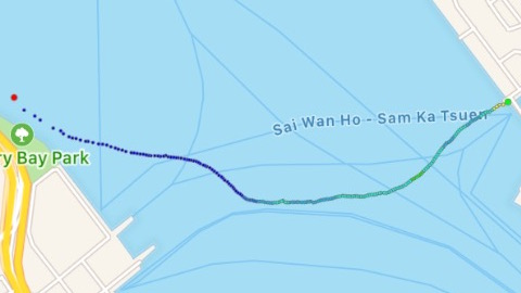 Actual Swim data after following the waypoints.
