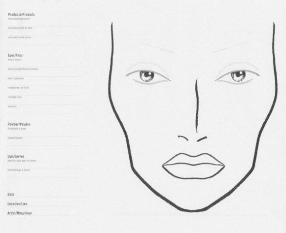 free printable makeup face charts makeup vidalondon. Black Bedroom Furniture Sets. Home Design Ideas
