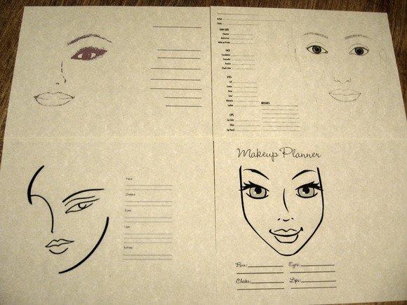 Blank Makeup Face Charts. 75 Printable Blank Face Charts