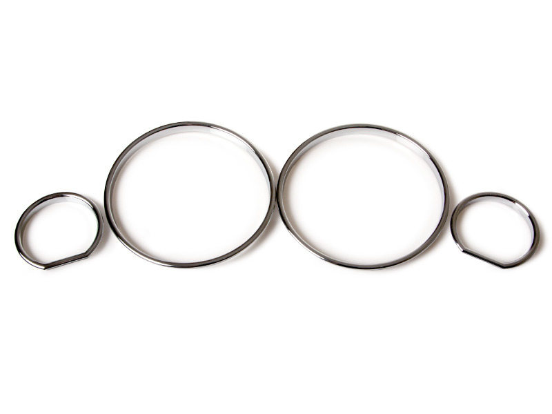 BMW E32 E34 Cluster Dashboard Dial Gauge Rings CHROME