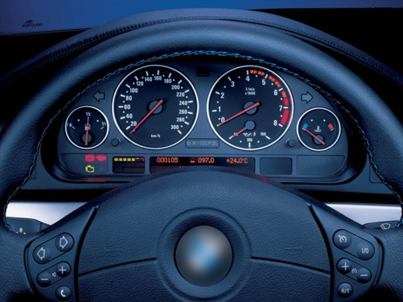 BMW E39 M5 E38 E53 X5 Cluster Dashboard Dial Gauge Rings SILVER