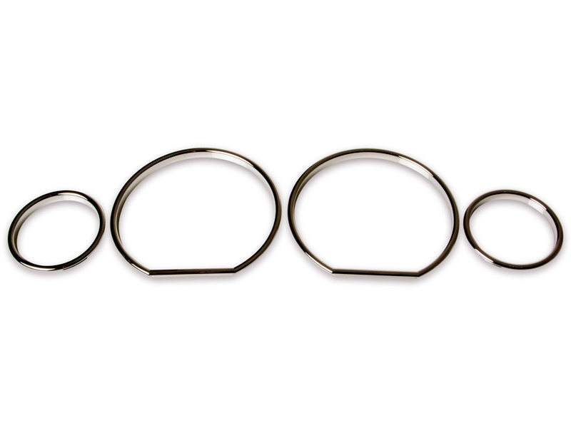 BMW E36 Z3 M3 Cluster Dashboard Dial Gauge Rings CHROME