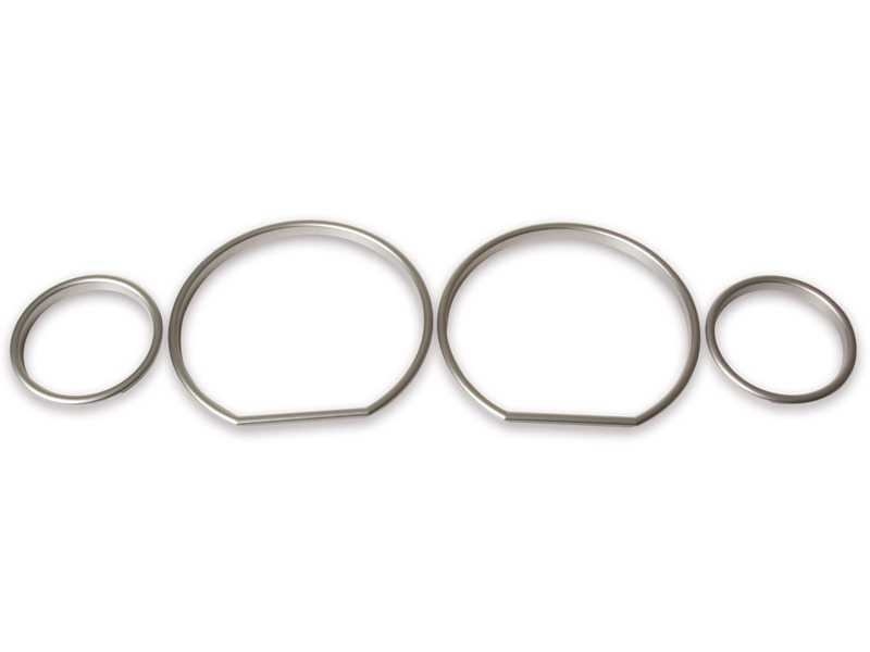 BMW E36 Z3 M3 Cluster Dashboard Dial Gauge Rings SILVER