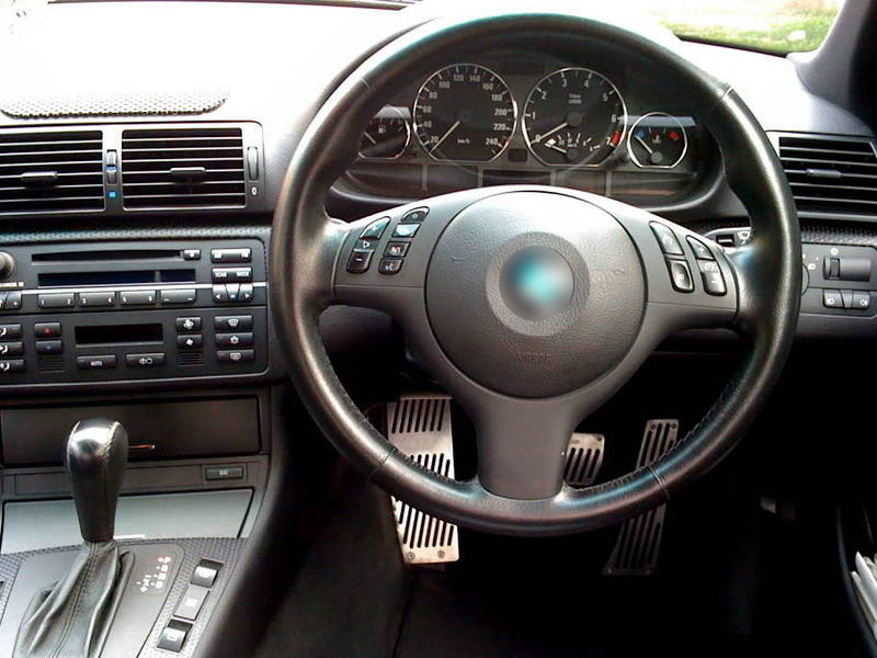 BMW E46 M3 ZHP Cluster Dashboard Dial Gauge Rings CHROME