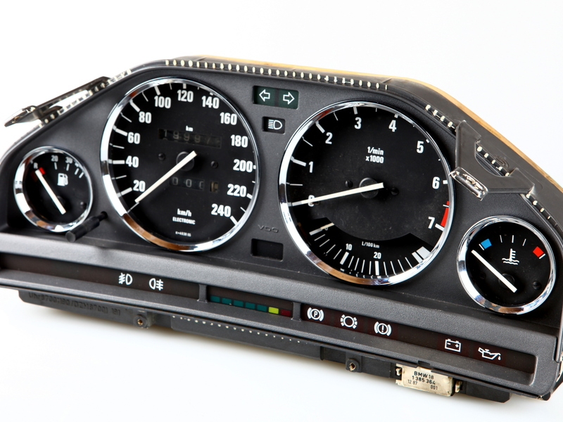 BMW E30 Chrome Cluster Dashboard Dial Gauge Rings M3 EVO 1982-1994