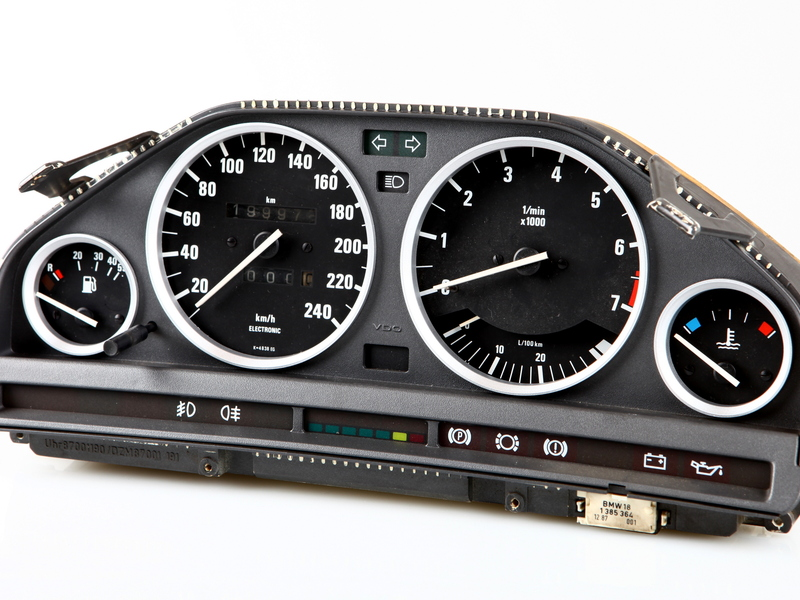 BMW E30 SILVER Cluster Dashboard Dial Gauge Rings M3 EVO