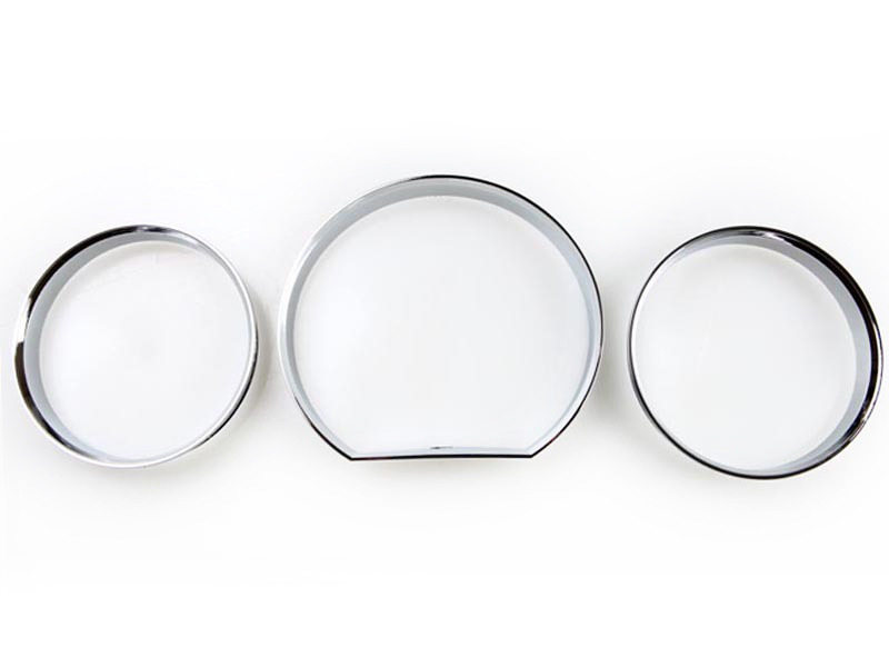 Chrome Dash Gauge Ring Set For Mercedes Benz W124 E-Class