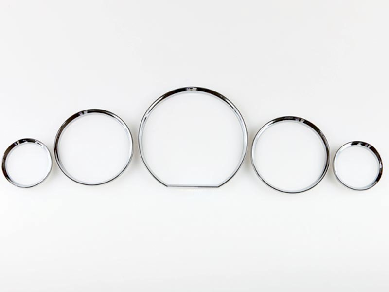 Chrome Gauge Cluster Dashboard Rings Dials For Mercedes Benz W140 & R129 1991-1999