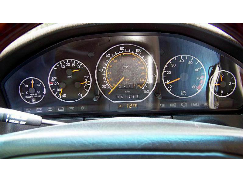 MERCEDES BENZ W140 CHROME GAUGE CLUSTER DASHBOARD RINGS DIALS & R129 91-99