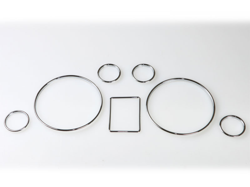 Audi A3 8L A4 B5 A6 C5 Chrome Dashboard Gauge Ring Bezel Set New