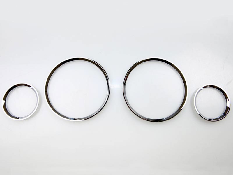 Vauxhall OPEL CORSA B CHROME Gauge Dial Dash Rings set