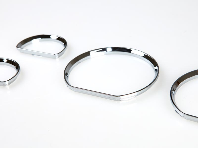 Ford 94-04 Mustang Chrome Dash Gauge Ring Bezel Set