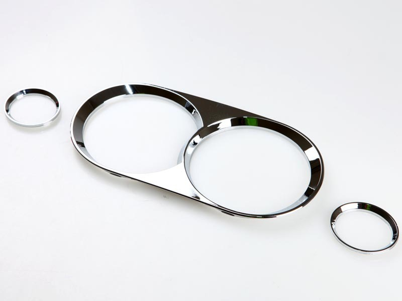 GAUGE DASHBOARD CHROME RINGS TRIM FOR NISSAN SILVIA S14