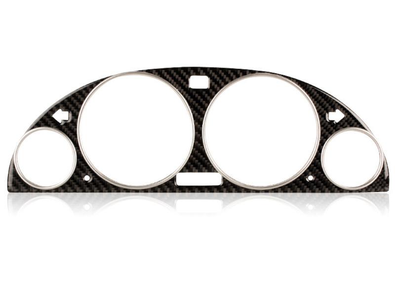 BMW E39 E38 E53 X5 BLACK CARBON M3 Gauge Dash Rings CLUSTER DIAL PANEL Bezel