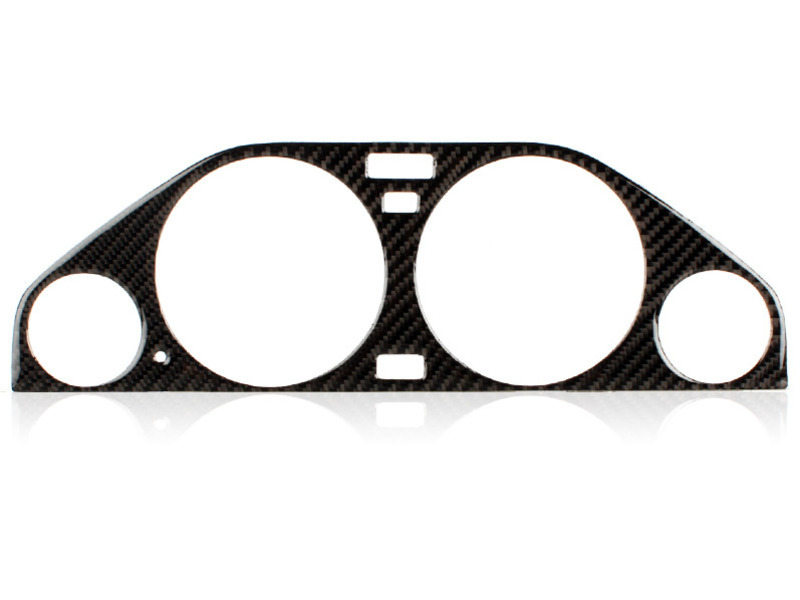 BMW E30 BLACK CARBON FIBER M3 Gauge Dash CLUSTER DIAL PANEL Bezel