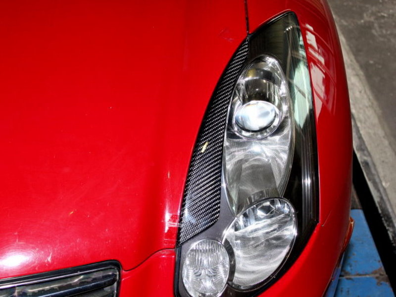 Carbon Fiber Eyelids Eyebrows Infiniti G35 Coupe 03-06