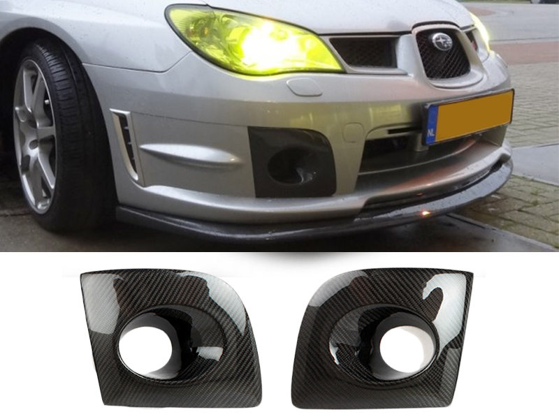 Lower Bumper Carbon Fiber Fog Light Cover Subaru Impreza WRX STi