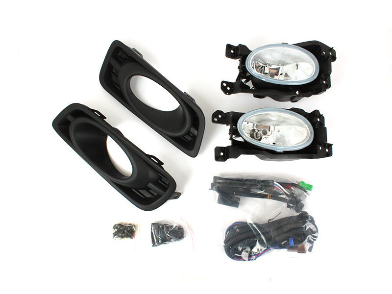 Clear Fog Light with Cover Wiring Switch Kit For Honda City GM2 facelift 12-13