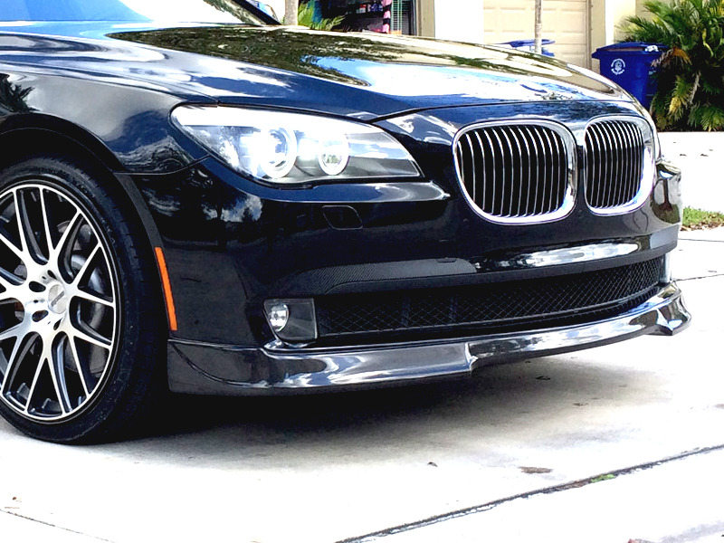 UNPAINTED PU Urethane BMW F01 7 Series 08-12 3D Style Front Lip Spoiler