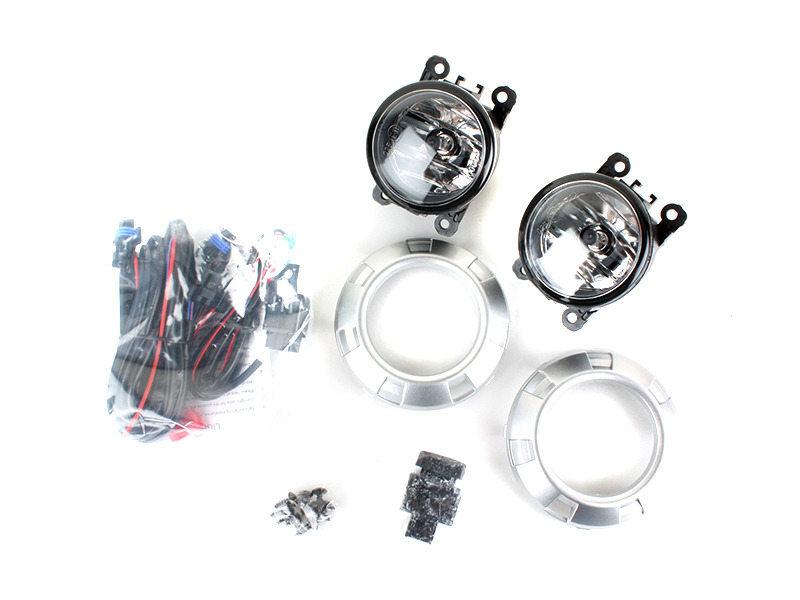 Fog Light Silver Trim Cover Wiring Switch For Mitsubishi Pajero Montero Shogun