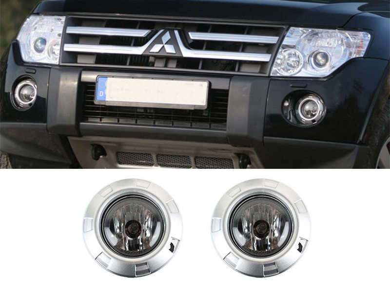 Fog Light Silver Trim Cover Wiring Switch For Mitsubishi Pajero Montero Shogun