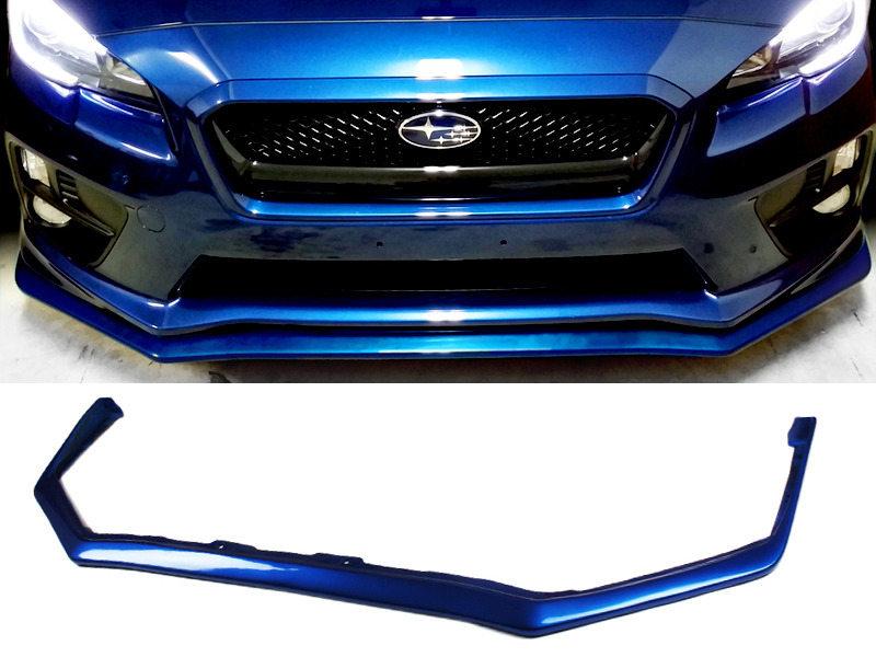 PAINTED PU Subaru WRX STI 15-16 JDM OE Style Front Lip Spoiler Color 02C