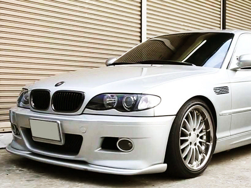 PAINTED PU Urethane BMW E46 M3 01-06 H Style Front Lip Spoiler Color 668