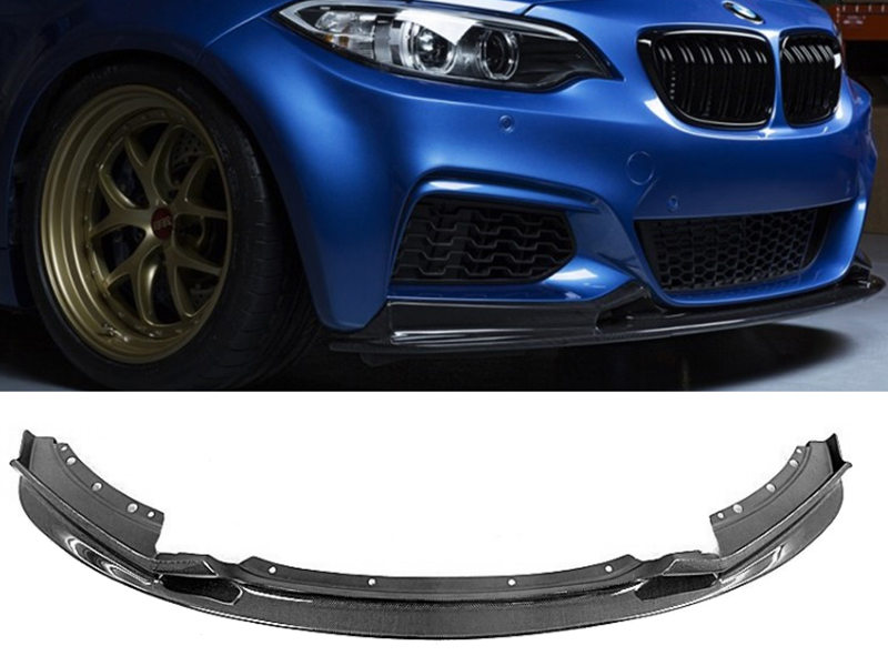Carbon Fiber 3D Style M Sport Bumper Front Lip Spoiler For BMW F22 220i 228i M235i