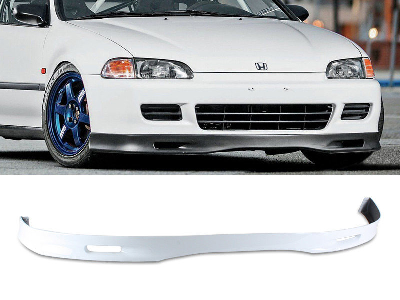 PAINTED PU Honda Civic 2D 3D 92-95 SPN Style Front Lip Spoiler Color NH538