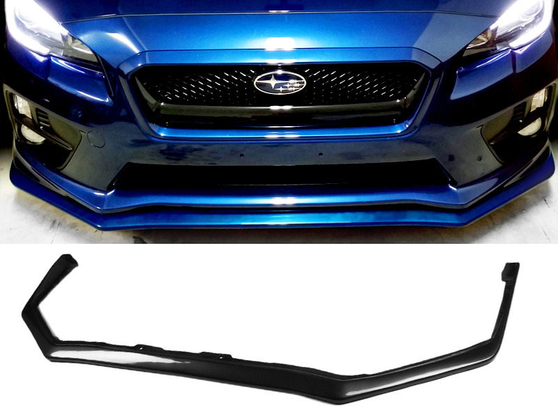 PAINTED PU Subaru WRX STI 15-16 JDM OE Style Front Lip Spoiler Color Black