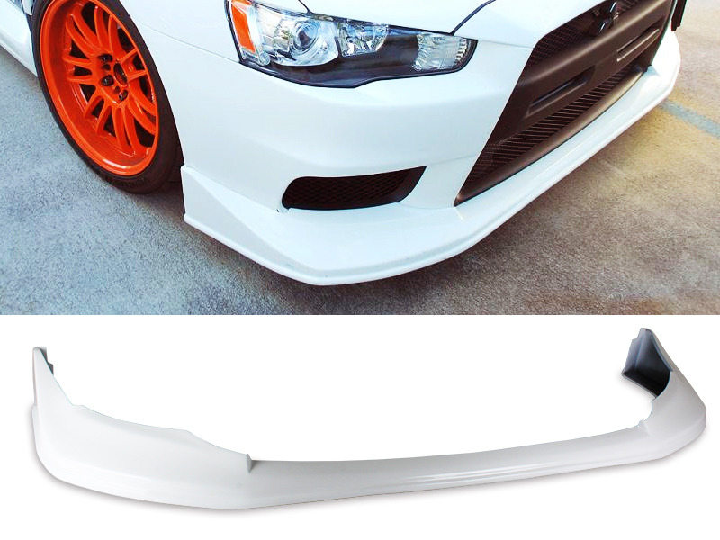 PAINTED PU Mitsubishi EVO 10 08-15 JDM Style Front Lip Spoiler Color W37