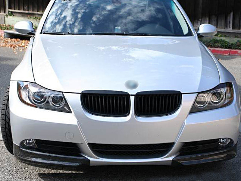 BMW 3 Series E90 E91 Pre-facelift Carbon Fiber Front Bumper Splitter Spoiler