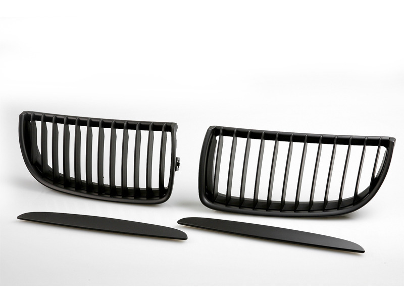 2005-2008 BMW E90 E91 FRONT HOOD BUMPER BLACK KIDNEY GRILL GRILLES