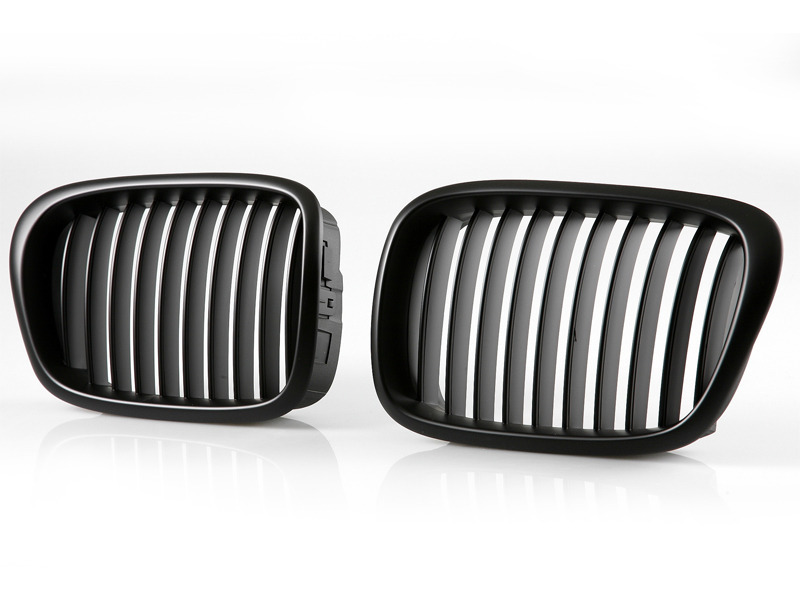 For BMW E39 WIDE EURO KIDNEY CENTER HOOD GRILLE GRILL M5 BLACK 520i 525i 530i