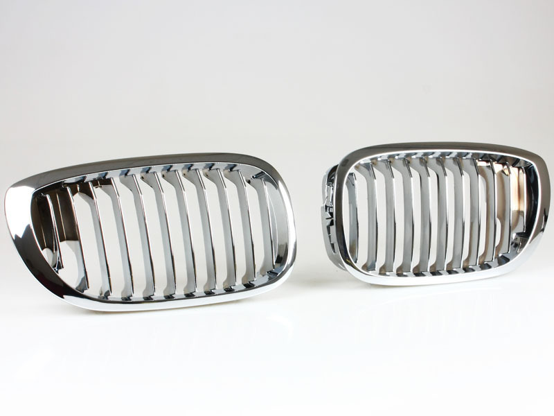 BMW E46 Front Grille 04-06 Coupe Convertible Kidney Style Chrome