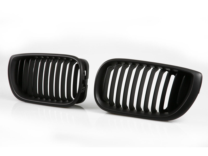For BMW E46 Front Grille 02-05 4 Door Kidney Style Black