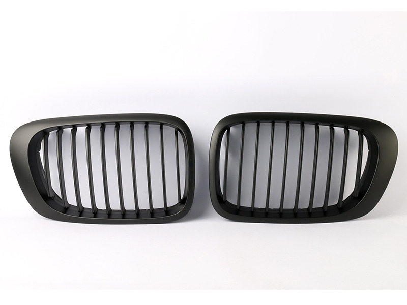 BMW E46 Front Grille 99-03 2 Door Kidney Style Black 01-06 M3